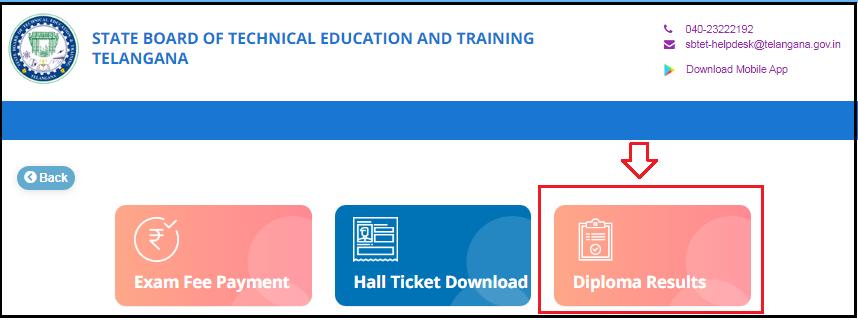 TS SBTET Diploma Results Step 2