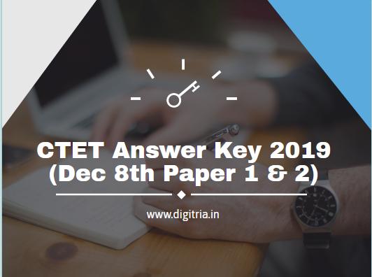 CTET Answer Key 2019