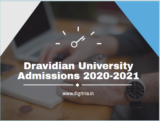 Dravidian University Admissions