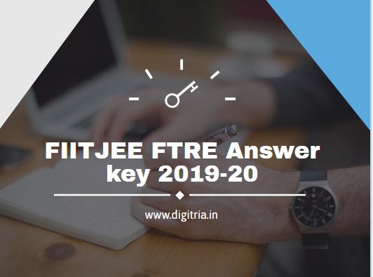 FIITJEE FTRE Answer key