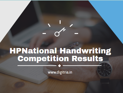 National Handwriting Competition Results