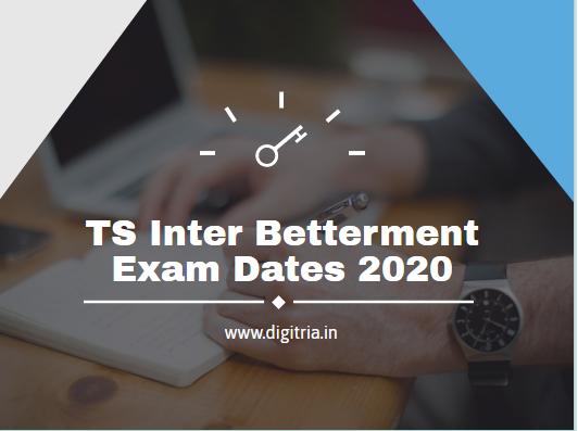 TS Inter Betterment Exam Dates