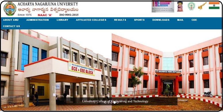 ANU home page