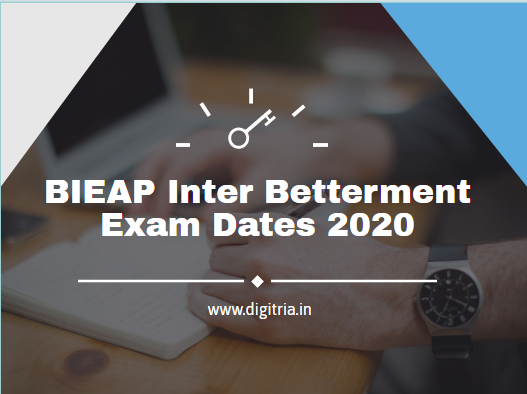 BIEAP Inter Betterment Exam Dates 2020