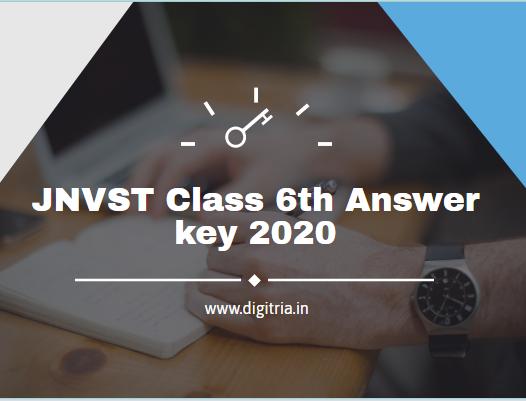 JNVST Class 6th Answer key