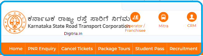 KSRTC home page