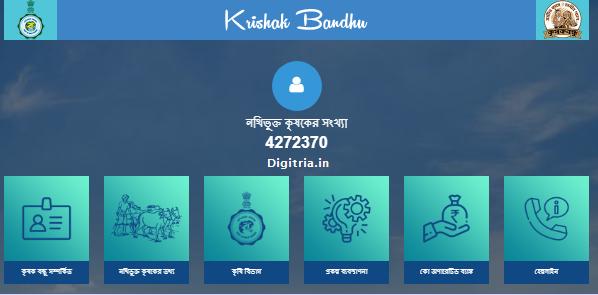 WB Krishak Bandhu Scheme Official page