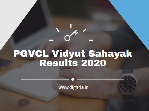 PGVCL Vidyut Sahayak Results 2020
