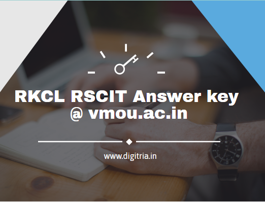 RKCL RSCIT Answer key