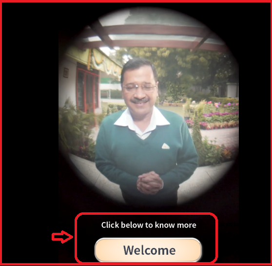 "welcomekejriwal.in ""Kejriwal Aapke Dwaar"" Website Toll-Free Number"