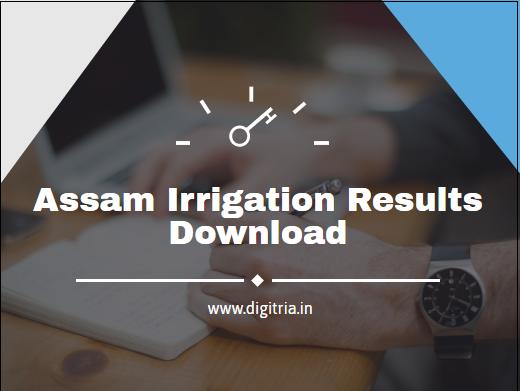 Assam Irrigation Results 2020