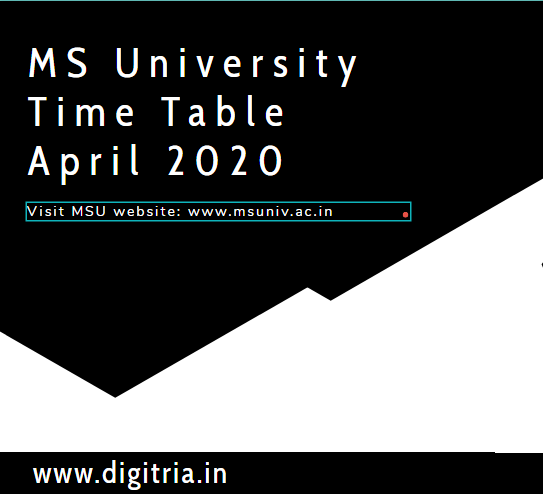MS University Time Table 2020