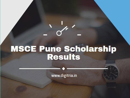 MSCE Pune Scholarship Results