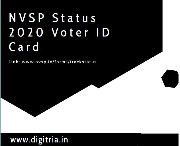 www.nvsp.in/forms/trackstatus NVSP Status 2020