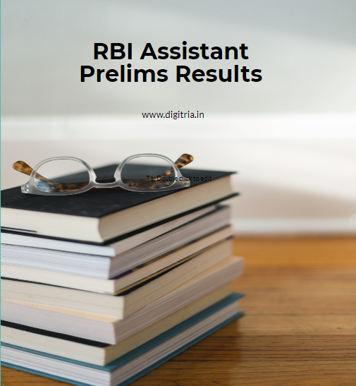 RBI Assistant Prelims Results 2020
