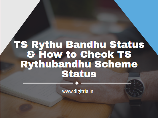 Rythu Bandhu Status 2019-2020
