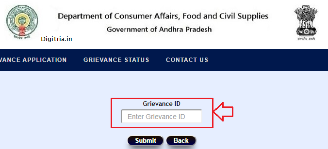 AP Ration Card Status Gravience ID