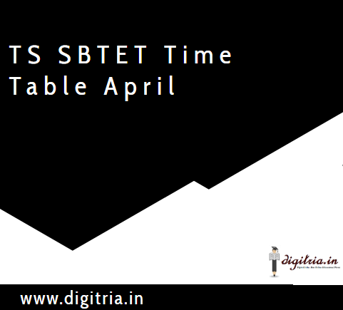 TS SBTET Time table 2020