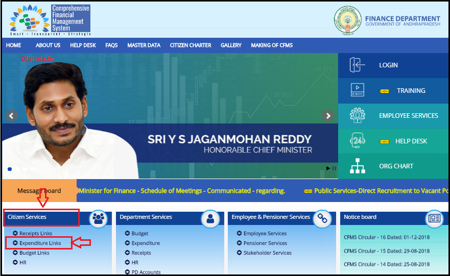 AP Jagananna Vasathi Deevena Scheme 2020 Payment Status Eligible list cfms Home page