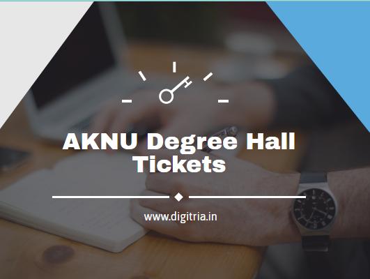 AKNU Degree Hall Tickets 2020