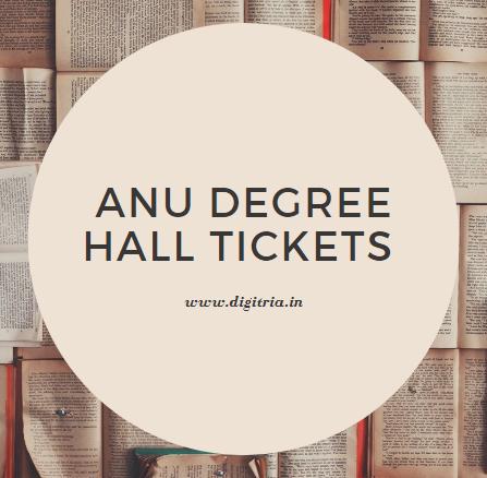 ANU Degree Hall Tickets 2020