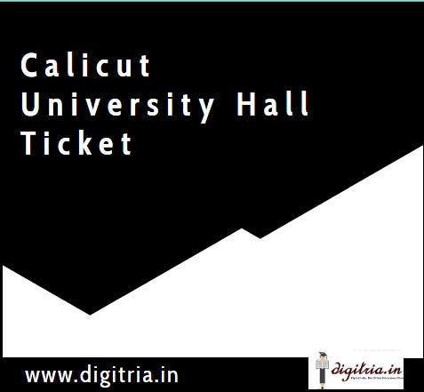 Calicut University Hall Ticket 2020