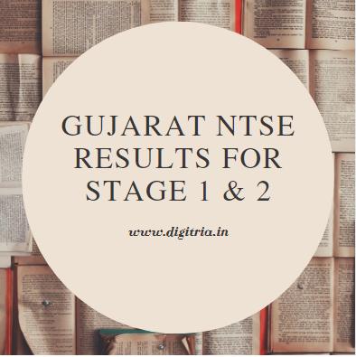 Gujarat NTSE Results 2020