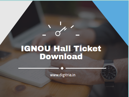 IGNOU Hall ticket 2020