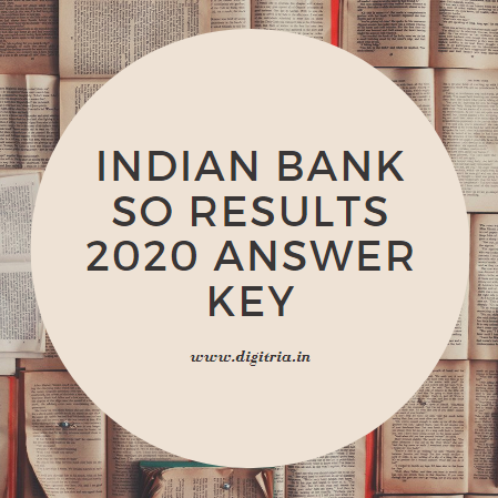 Indian Bank SO Results 2020