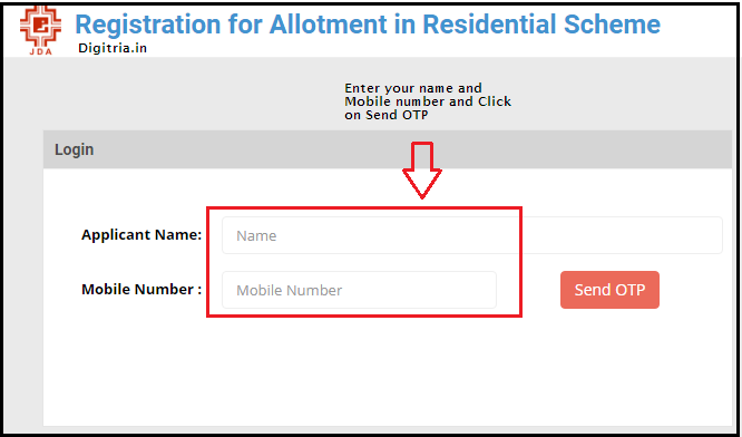 JDA Jaipur Housing Scheme Form 1