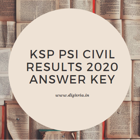 KSP PSI Civil Results 2020