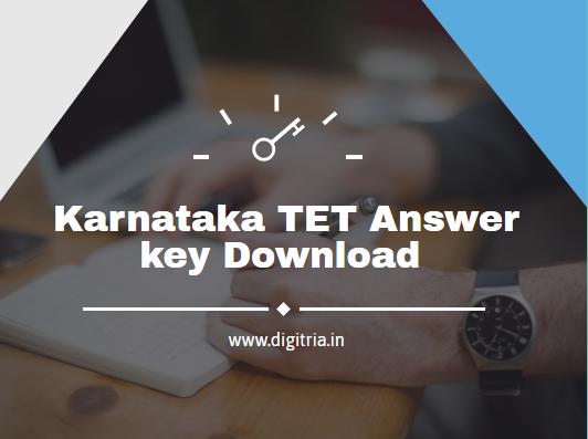 Karnataka TET Answer key 2020