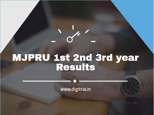 MJPRU 1st 2nd 3rd year Results 2020