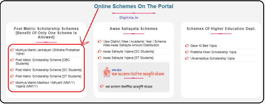 Online portal Scholarships