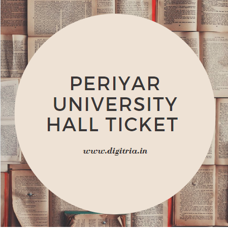 Periyar University Hall Ticket 2020