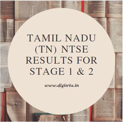 TN NTSE Results