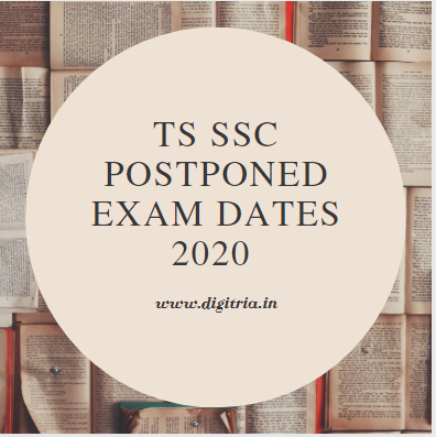 TS SSC Postponed Exam Dates 2020