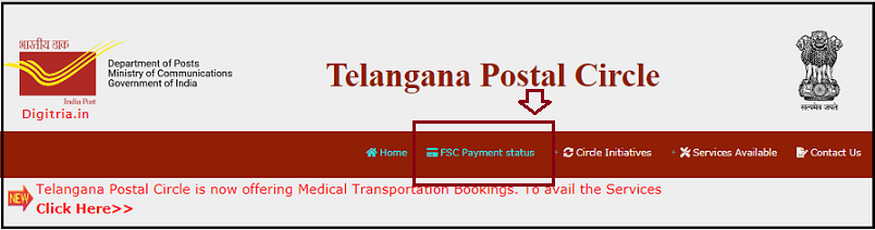 Click on FSC Payment Status