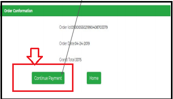 Click on Payment