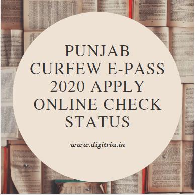 Punjab Curfew e-Pass 2020 Apply Online