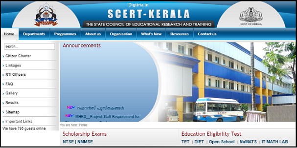 SCERT Home page