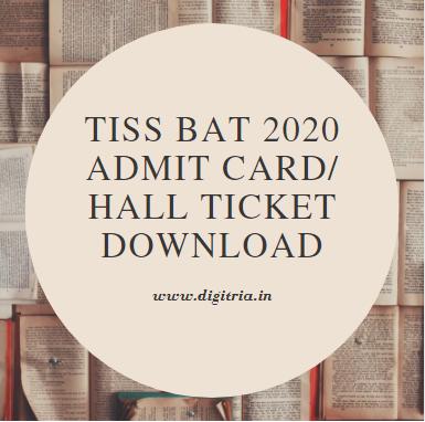TISS BAT 2020 Admit Card