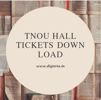 TNOU Hall tickets