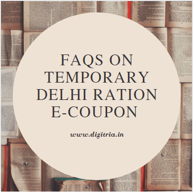 Temporary Delhi Ration e-Coupon Janta Samvad Status