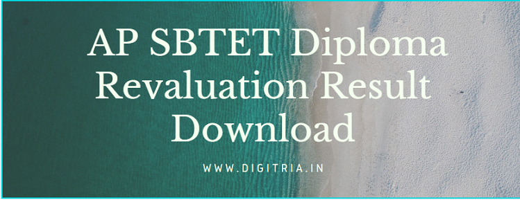 AP SBTET Diploma Revaluation Result