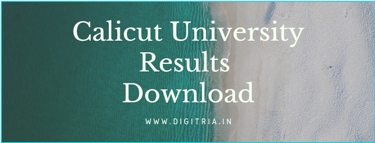 Calicut University 5th Sem Results 2020