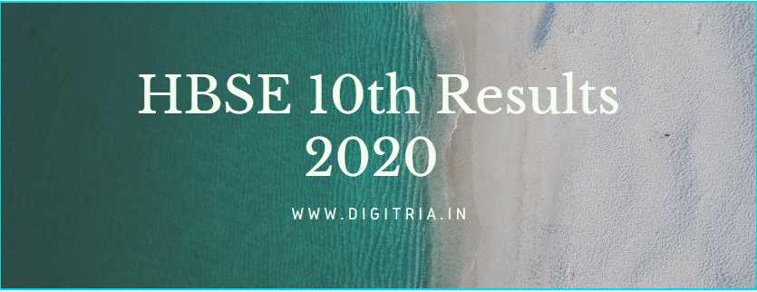 HBSE 10th Results 2020