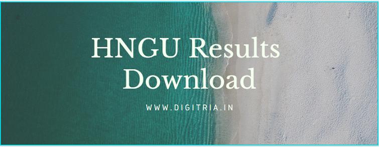 HNGU Results 2020