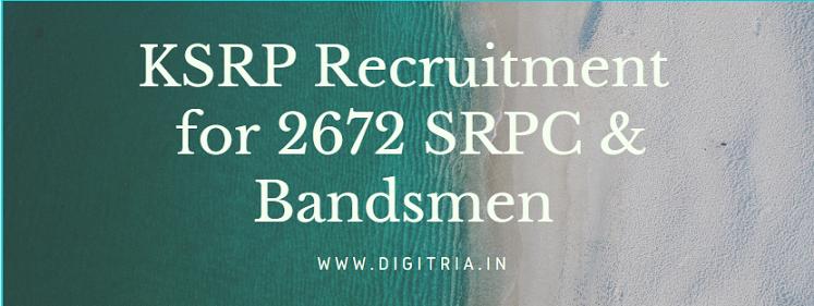 KSRP Recruitment 2020