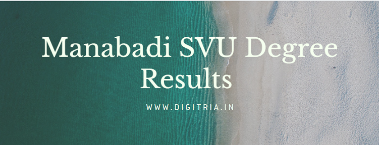 Manabadi SVU Degree 1st Sem Results 2020